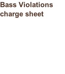 Bass Violations charge sheet
